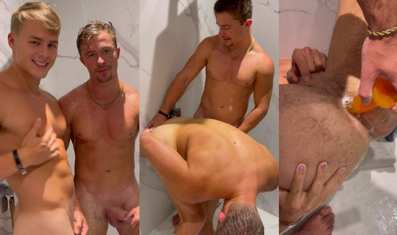 Peachyyboy e @thesexypt play with dildo OF