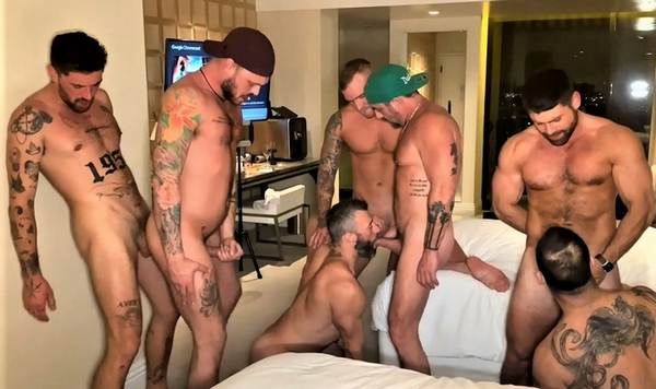 Jake Nicola Vince Parker Chris Damned Cole Connor Chad Hammer Beau Butler IsaacX West Hollywood Hotel Orgy OnlyFans
