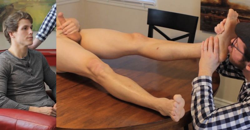 Jonathan Hypnotized and Licked his FEET while jerking