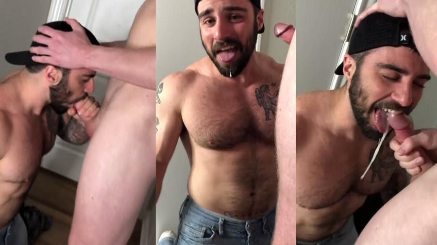 Jordan suck dick and gets a mouthful of cum Brandtsboys