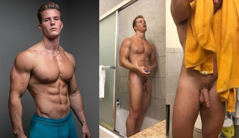 Michael Ꭰean Model fitness naked in shower