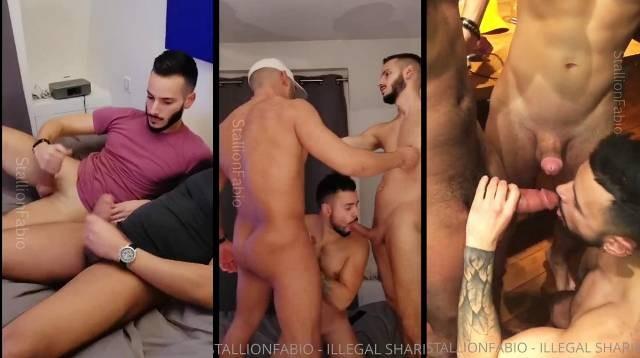 StallionFabio Saharaboy Co Tony Silver fuck threesome